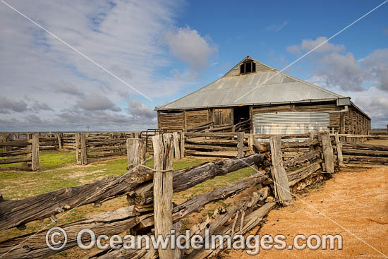 Mungo Woolshed, built in 1869, is an ingenious drop-log cypress pine construction from the historic Gol Gol pastoral station, now in Mungo National Park, near Mildura, New South Wales, Australia. Photo - Gary Bell