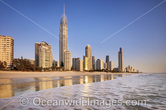 Surfers Paradise during morning sunrise. Gold Coast, Queensland, Australia. Photo - Gary Bell