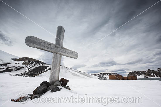Grave at a Whaling Station. Deception Island, Antarctica. Photo - Chris & Monique Fallows