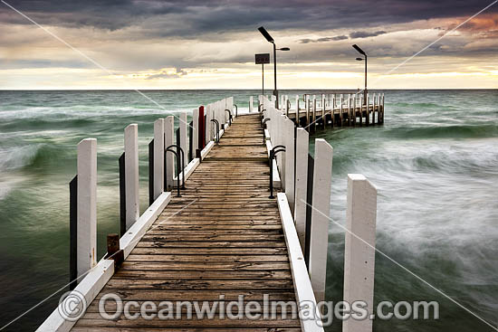 Safety Beach Jetty. Port Phillip Bay, Mornington Peninsula, Victoria, Australia.