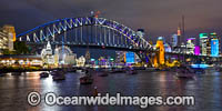 Vivid Sydney Harbour Bridge Photo - Gary Bell