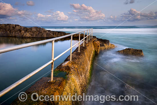 Sawtell Rock Pool. A tidal rock swimming pool at Sawtell Headland that is open to the public. Sawtell, New South Wales, Australia. Photo - Gary Bell