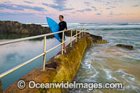 Surfer at Sawtell Headland Photo - Gary Bell