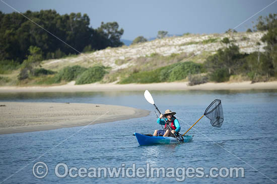 Recreational fishing. Wallis Lake, Tuncurry, New South Wales, Australia. Photo - Gary Bell