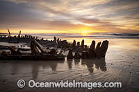 Historic Shipwreck Woolgoolga Photo - Gary Bell