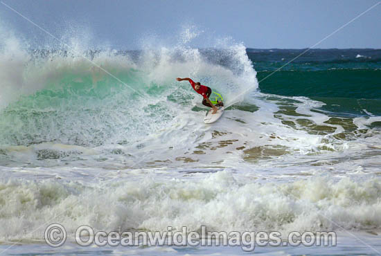 Surfer riding a wave. Sawtell Beach, New South wales, Australia. Photo - Gary Bell