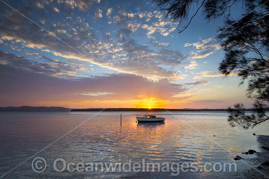 Sunset over Wallis Lake, Forster, New South Wales, Australia. Photo - Gary Bell
