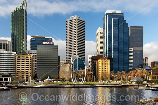 Elizabeth Quay and Perth City, Western Australia. Photo - Gary Bell