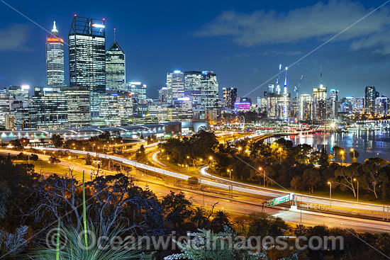 View of Perth City from Kings Park. Perth, Western Australia. Photo - Gary Bell