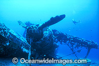 Scuba Diver with Japanese bi-plane World War 2 Photo - Gary Bell