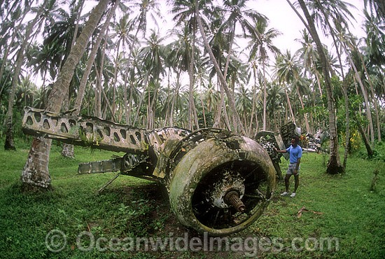 Wreck of a Japanese World War 2 plane. New Britain Island, Papua New Guinea. Photo - Gary Bell