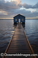 Blue Boat House Photo - Gary Bell