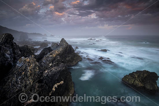Coastal Seascape during dusk, Sapphire Coast, New South Wales, Australia. Photo - Gary Bell