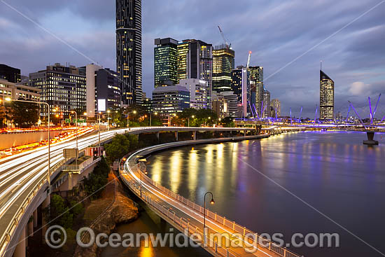 Brisbane City and River during dusk. Brisbane, Queensland, Australia. Photo - Gary Bell