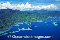 Papua New Guinea Aerial reefs Photo - Gary Bell