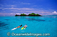 Snorkeling on Coral reef Fiji Photo - Gary Bell