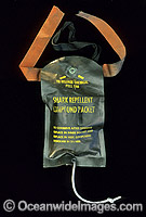 Shark repellent compound packet used to repel Sharks Photo - Gary Bell