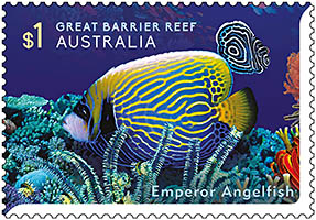 Emperor Angelfish Stamp