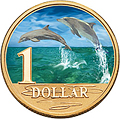 Bottlenose Dolphins Coin