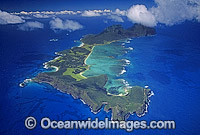 Aerial of Lord Howe Island